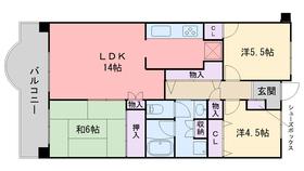 コープ野村姪浜9階Fの間取り画像