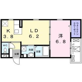 メゾン・レジュイット2階Fの間取り画像