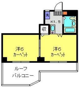 柳澤ハイツ6階Fの間取り画像