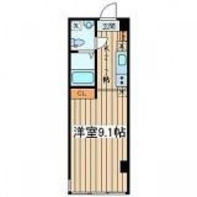 アフィーノ川崎9階Fの間取り画像