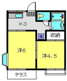 ファミーユ志村1階Fの間取り画像
