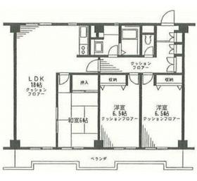 希望ヶ丘ハイム2階Fの間取り画像