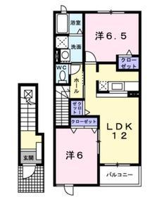 スプリングヒルB2階Fの間取り画像