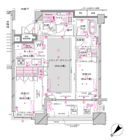 オーパスレジデンス銀座イースト2階Fの間取り画像