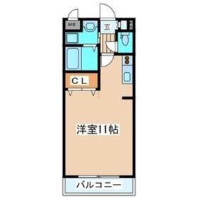 レーベンス柏木4階Fの間取り画像