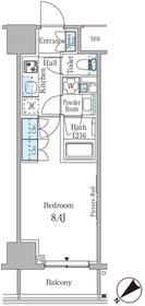 ルビア赤坂10階Fの間取り画像