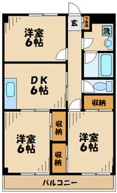 京王永山駅 バス10分「別所」徒歩2分5階Fの間取り画像