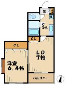 クレアール4階Fの間取り画像