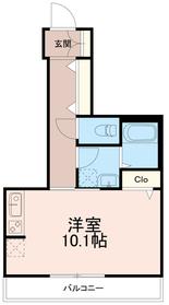 フワイエドツー(フワイエド2)3階Fの間取り画像