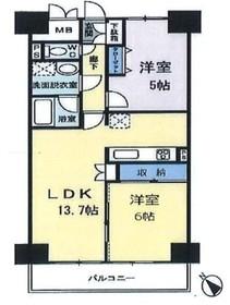 ハイム・アレグローネ7階Fの間取り画像