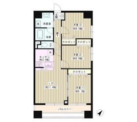 メゾン・ラポール7階Fの間取り画像
