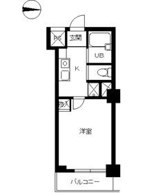 スカイコート新宿御苑前5階Fの間取り画像