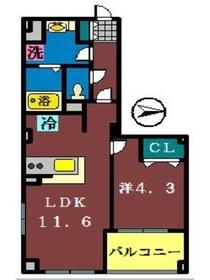 コンフォーティア4階Fの間取り画像