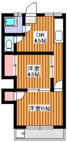 成増駅 徒歩4分2階Fの間取り画像