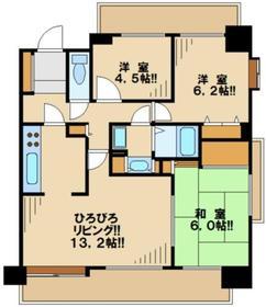聖蹟桜ヶ丘パークホームズ7階Fの間取り画像