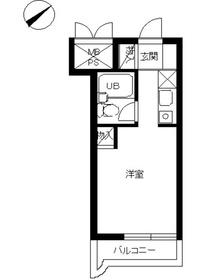 スカイコート戸塚1階Fの間取り画像