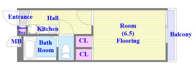 レオパレスフセアジロミナミ 人気の全室フローリング。収納スペースも充実しています。