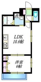 メゾン ド 関1階Fの間取り画像