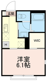 マメゾンイナギ(マメゾンINAGI)2階Fの間取り画像