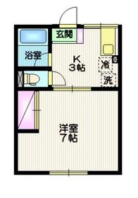 シティハイム ユーハイム湘南1階Fの間取り画像