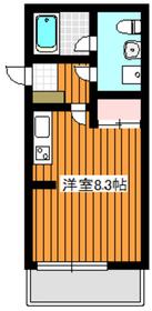 イーシースクエア2階Fの間取り画像