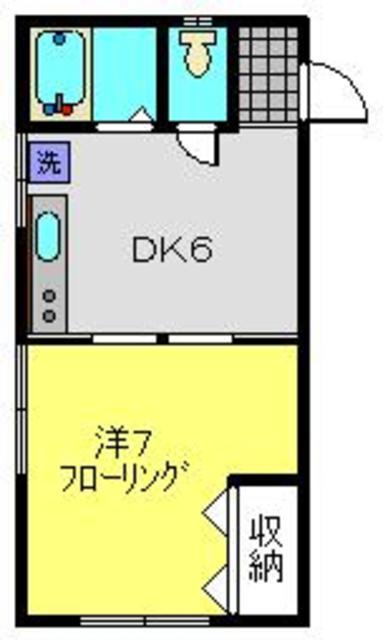 東白楽駅 徒歩7分間取図