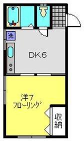仲木戸駅 徒歩10分2階Fの間取り画像