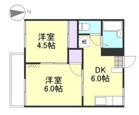 コーポ高田1階Fの間取り画像