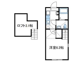 マッケンジープレイス2階Fの間取り画像