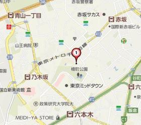 赤坂桧町公園アーバンライフ案内図