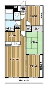 上大岡駅 徒歩12分4階Fの間取り画像
