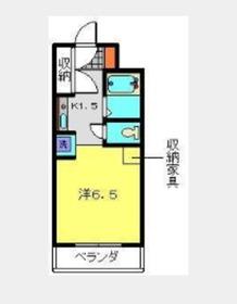 プラザ桜木町5階Fの間取り画像