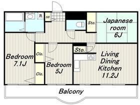 フィフスフロンティア5階Fの間取り画像
