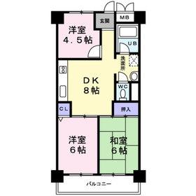 豊津駅 徒歩17分5階Fの間取り画像