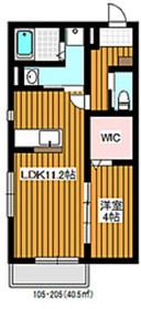 成増駅 徒歩35分2階Fの間取り画像