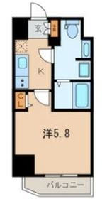 ザ・レジデンス横浜青木橋7階Fの間取り画像