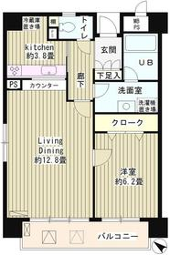 アステリオン松濤10階Fの間取り画像