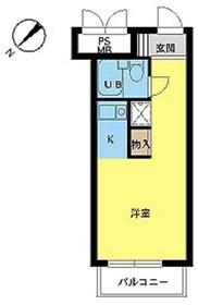 スカイコート世田谷用賀3階Fの間取り画像