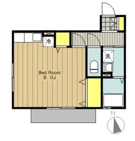 ベローナモレ2階Fの間取り画像