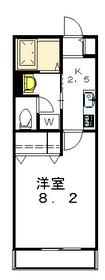 ラ・フェリーチェ駒沢公園2階Fの間取り画像
