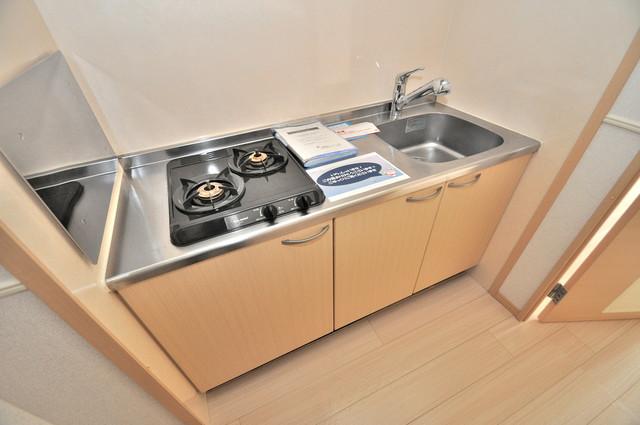 巽北ロイヤルマンション ピカピカのキッチンはお料理の時間が楽しくなりますね。