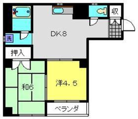 桑名ビル2階Fの間取り画像