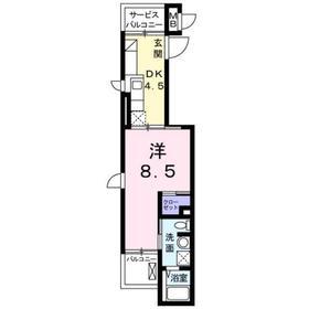 カーサ1階Fの間取り画像