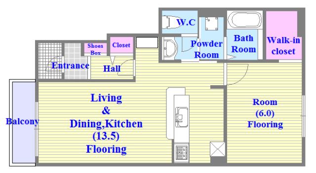 カーサ・エテルナ 人気の全室フローリング。収納スペースも充実しています。新築物件。人気のセパレート・広めの間取です。