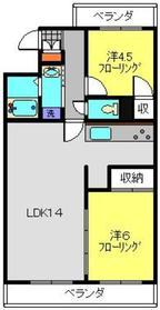 日吉本町駅 徒歩11分2階Fの間取り画像