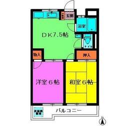 ビクトリーハイム2階Fの間取り画像
