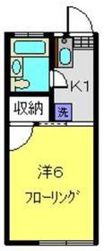 ボーテ日吉part11階Fの間取り画像
