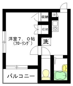 テルメゾン2階Fの間取り画像