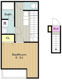 メゾンエスティ2階Fの間取り画像