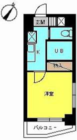 スカイコート日本橋浜町第28階Fの間取り画像